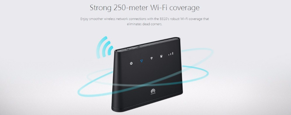 HUa Wei 4G LTE wireless router coverage