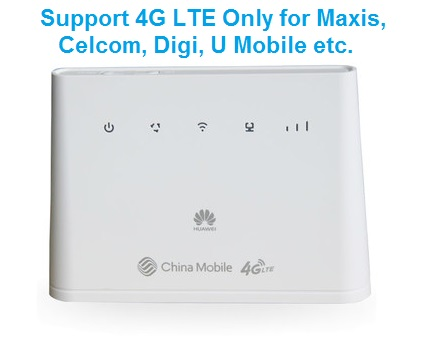 HUa Wei 4G modem router CPE for 4G only