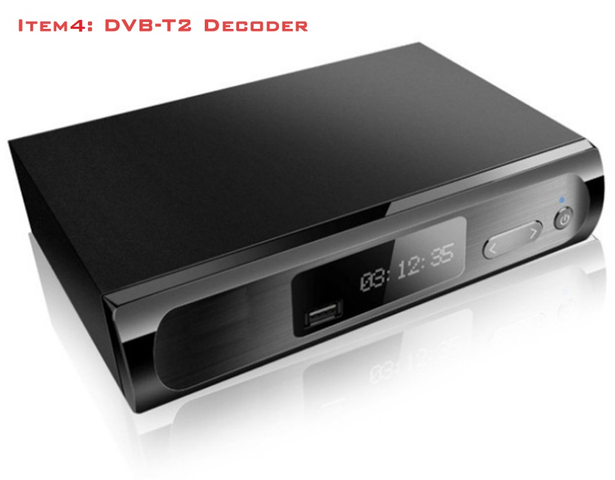 Receive DVB-T2 Digital channel for Singapore & Malaysia