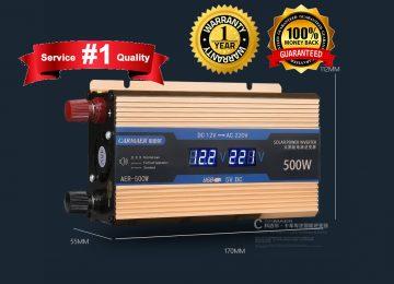 500W Inverter (12V DC to AC Converter)