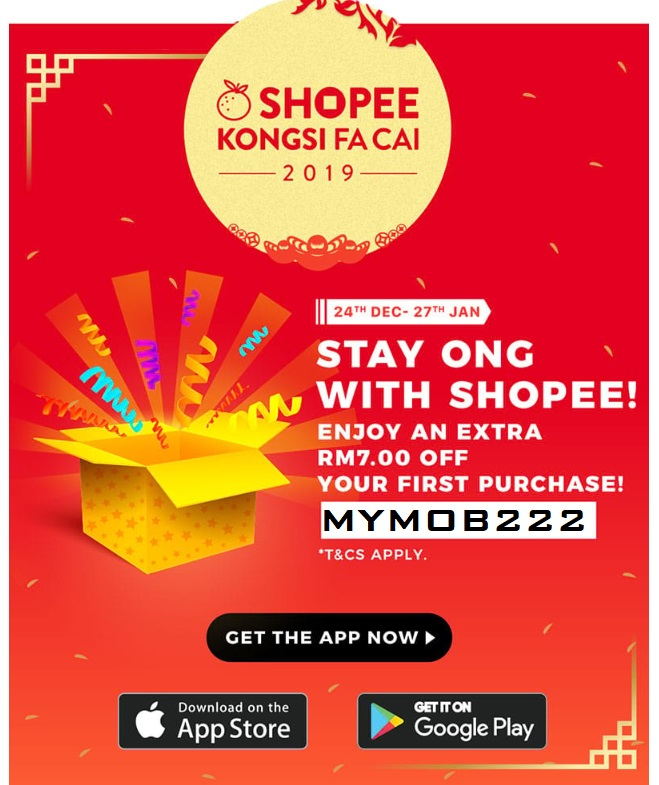 Shopee RM7 Voucher for First purchase