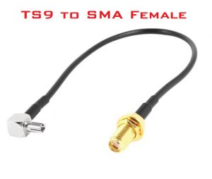 TS9 to SMA Female Adapter converter cable for 4G router antenna