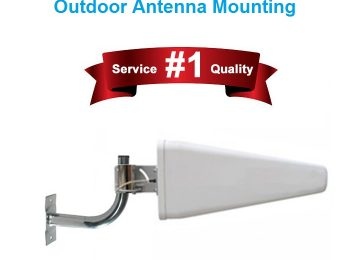 L Pole Bracket for Outdoor Antenna Mounting