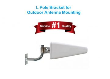Pole Mount Wall Mount L Bracket for outdoor antenna mounting
