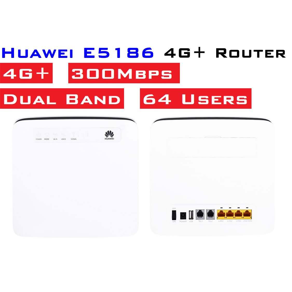 E5186 Huawei 4G+ dual band Router website - MY Mobile Signal